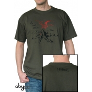 THE HOBBIT - Tshirt Lonely Mountain homme MC kaki - basic