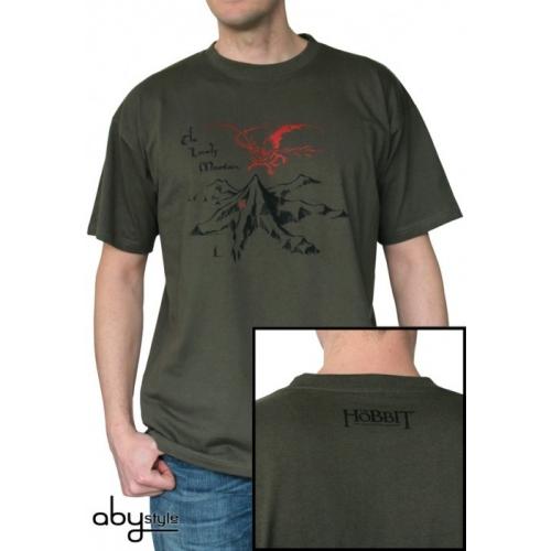 THE HOBBIT - Tshirt Lonely Mountain homme MC kaki - basic