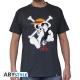 ONE PIECE - Tshirt Luffy & Emblem homme MC dark grey