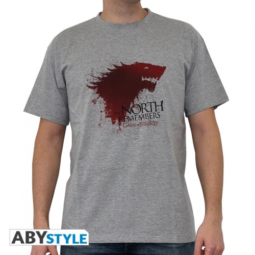 GAME OF THRONES - Tshirt The North... homme MC sport grey - basic