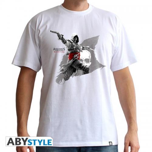 ASSASSIN'S CREED - Tshirt Edward Flag homme MC white - basic