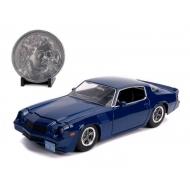 Stranger Things - Réplique métal 1/24 Billy's 1979 Chevy Camaro Z28 avec pièce de collection