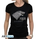 GAME OF THRONES - Tshirt Winter is coming femme MC black - basic