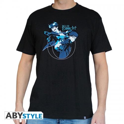 BLUE EXORCIST - Tshirt Rin & Yukio homme MC black - basic
