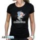 ONE PIECE - Tshirt Chopper femme MC black - basic
