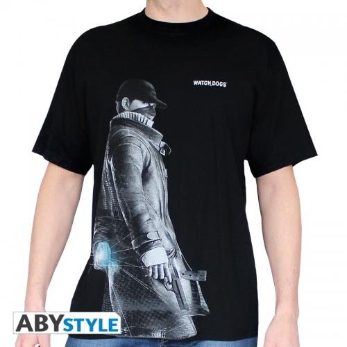 WATCH DOGS - Tshirt Aiden homme MC black - basic