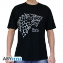 GAME OF THRONES - Tshirt Stark homme MC black - basic