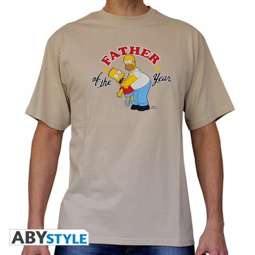 SIMPSONS - Tshirt Father of the Year homme MC sand - basic