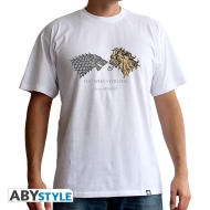 GAME OF THRONES - Tshirt Lan. VS Stark homme MC white