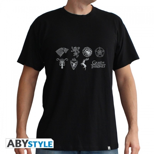GAME OF THRONES - T-Shirt Sigles homme MC black