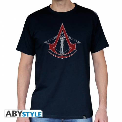 ASSASSIN'S CREED - Tshirt AC5 - Arbalète homme MC navy - basic