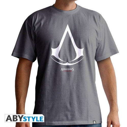 ASSASSIN'S CREED - Tshirt Logo homme MC grey