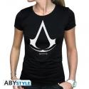 ASSASSIN'S CREED - Tshirt Logo femme MC black - basic
