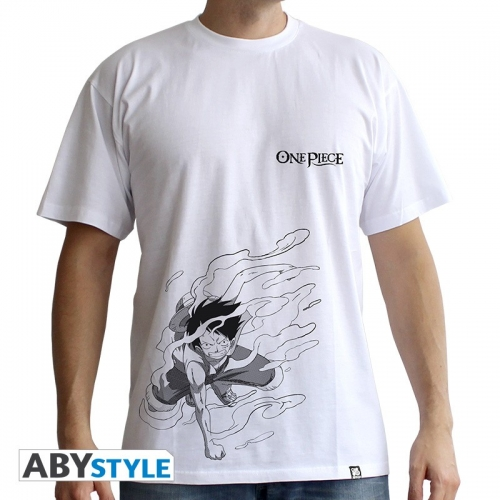 ONE PIECE - Tshirt Luffy Gear 2 homme MC white - basic