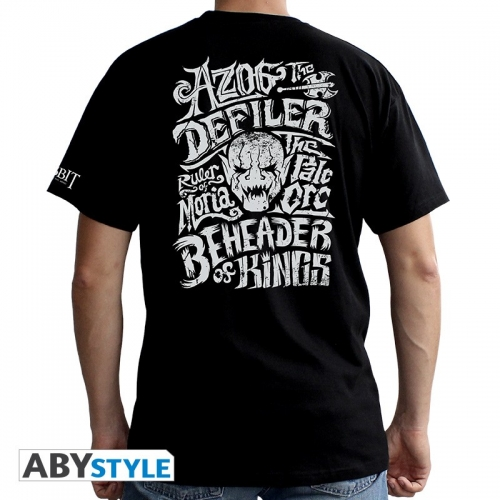 THE HOBBIT - Tshirt Azog homme MC black - basic