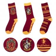 Harry Potter - Pack 3 paires de chaussettes Gryffindor