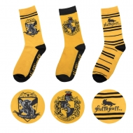 Harry Potter - Pack 3 paires de chaussettes Hufflepuff