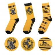 Harry Potter - Pack 3 paires de chaussettes Hufflepuff