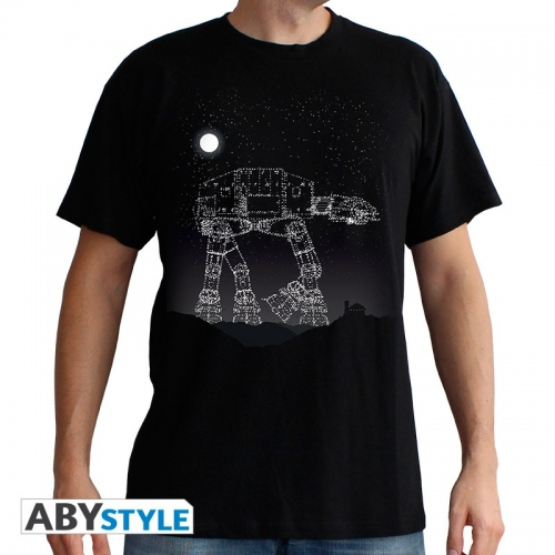 STAR WARS - T-Shirt AT-AT Stars homme MC black