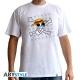 ONE PIECE - Tshirt Skull - Dessin de Luffy homme MC white