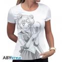 SAILOR MOON - T-Shirt Bunny& Bâton de Lune femme MC white