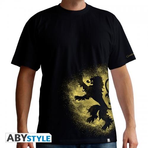 GAME OF THRONES - Tshirt  Lannister spray homme MC black - basic