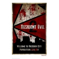 Resident Evil 2 - Lithographie Welcome To Raccoon City 42 x 30 cm