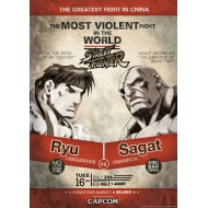 Street Fighter - Lithographie Ryu vs. Sagat 42 x 30 cm