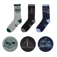 Harry Potter - Pack 3 paires de chaussettes Deathly Hallows