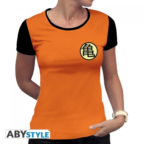 DRAGON BALL - T-Shirt Kame Symbol femme MC orange - premium