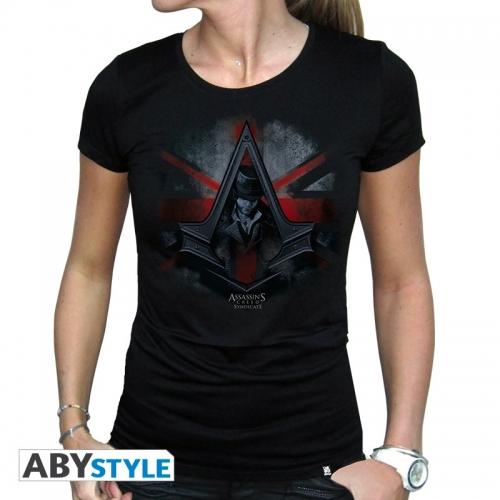 ASSASSIN'S CREED - Tshirt Jacob & Flag femme MC black - basic