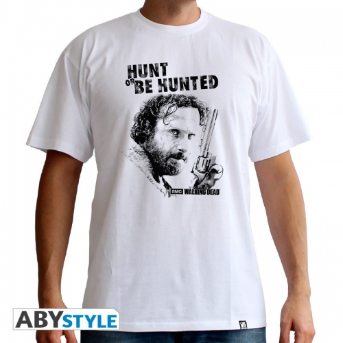 THE WALKING DEAD - T-Shirt Hunt Or Be Hunted homme MC white