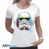 STAR WARS - T-Shirt Trooper graphique femme MC white