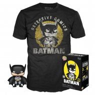 DC Comics - Set figurine et T-Shirt POP! & Tee Batman Sun Faded heo Exclusive