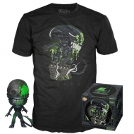 Alien - Set figurine et T-Shirt POP! & Tee 40th Xenomorph heo Exclusive