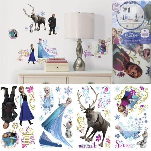 LA REINE DES NEIGES - Stickers repositionnable Multi-element