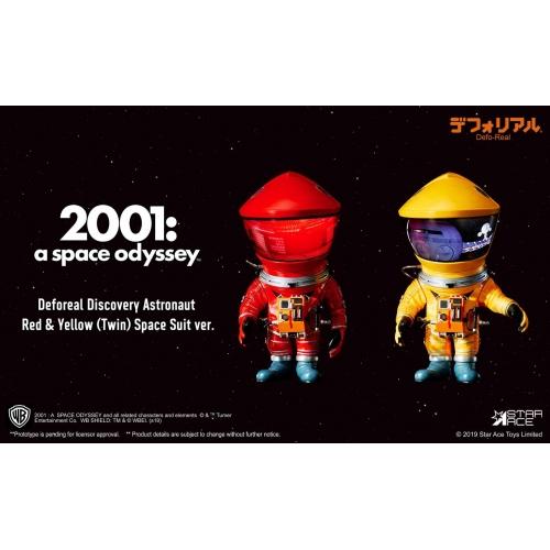 2001, l'Odyssée de l'espace - Figurines Artist Defo-Real Series DF Astronaut Red & Yellow Ver. 15 cm