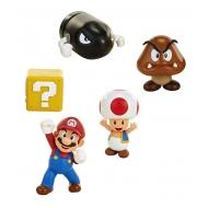 World of Nintendo - Pack 5 figurines Super Mario New  Bros. U Acorn Plains 6 cm