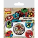 Marvel Comics - Pack 5 badges Iron Man