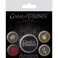 Game Of Thrones - Pack 5 badges Great Houses