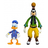Kingdom Hearts 3 - Pack 2 figurines Goofy & Donald 10 et 18 cm