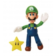World of Nintendo - Figurine Luigi avec Super Star 10 cm