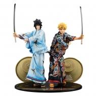 Naruto - Pack 2 statuettes G.E.M. Naruto & Sasuke Kabuki Ver. 23 cm