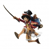 One Piece - Statuette Three Brothers Monkey D. Luffy 11 cm