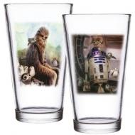 Star Wars Episode VIII - Pack 2 verres à bière (pinte) Chewbacca & R2-D2