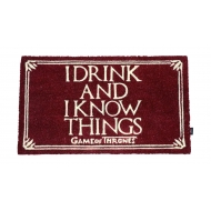 Game of Thrones - Paillasson I Drink And I Know Things 43 x 72 cm