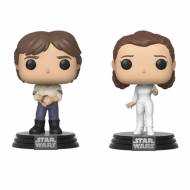 Star Wars - Pack 2 Figurines POP! Han & Leia Empire Strikes Back 40th Anniversary 9 cm