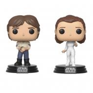 Star Wars - Pack 2 Figurines POP! Han & Leia Empire Strikes Back 40th Anniversary 9 cm
