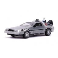Retour vers le Futur II - Réplique Hollywood Rides métal 1/24 DeLorean Time Machine
