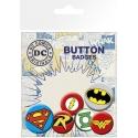 DC Comics - Pack 6 badges Logos Comics